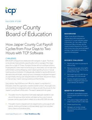Case study jasper county schools