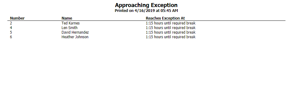Approaching Exception