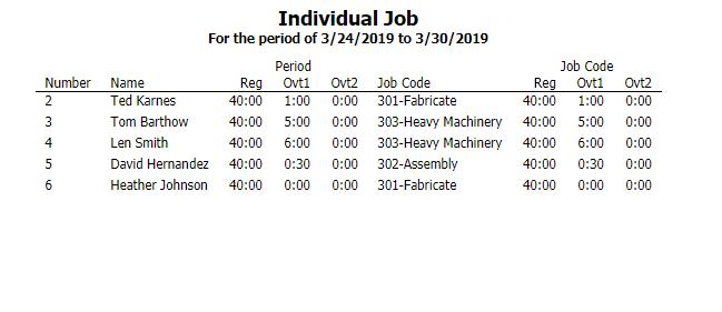 Individual Job