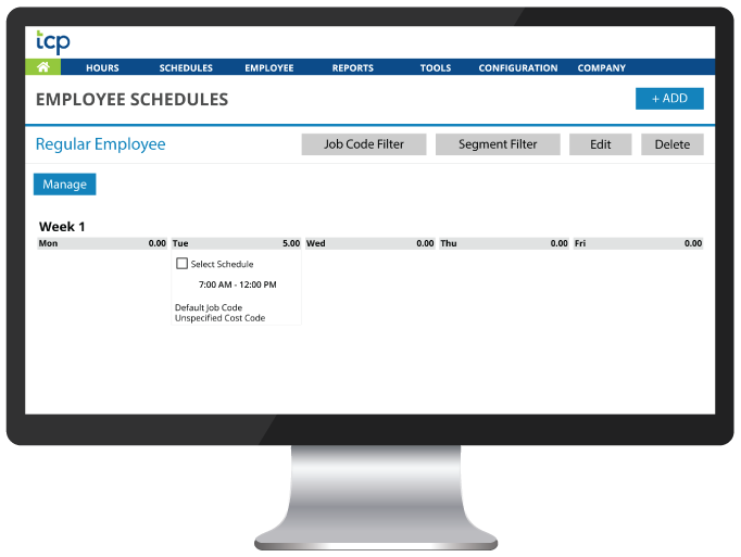 Ad hoc schedules