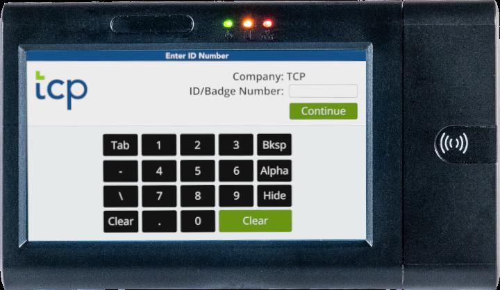 Tcp proximity time clock keypad