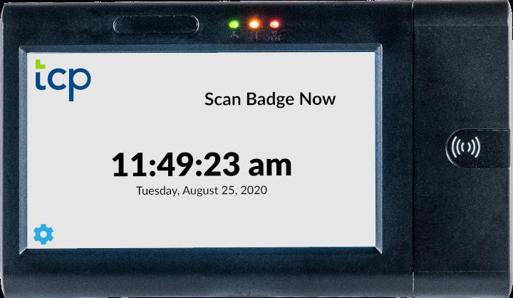 Tcp proximity time clock scan screen